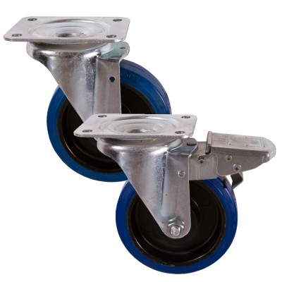 Medium Duty 22 & 29 Series Rubber Castors 160kg - 450kg