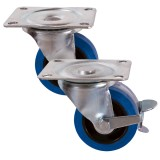 Medium Duty 61 & 88 Series Rubber Tyred Castors 27kg - 160kg
