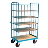 Warehouse Cage Trolley T2091 - T2092 with loose shelves