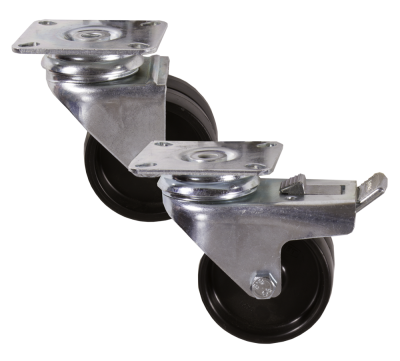 Light Duty V Series  / Twin Wheeled Plate Castors / 55kg - 90kg