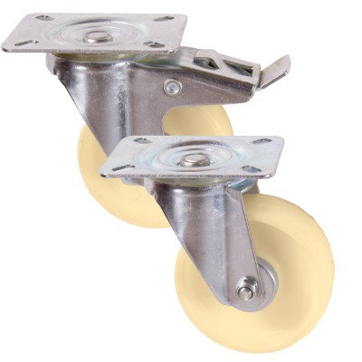 Light Duty Nylon Top Plate Castors / Up To 220kg