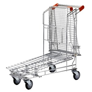 NT-FT Nestable Trolley with Top Shelf