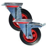 Medium Duty RS Series Rubber / Nylon Castors          75kg - 205kg