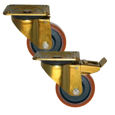 Heavy Duty 46 Series Poly / Cast Iron Castors 300kg - 1000kg