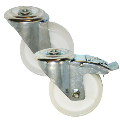 Medium Duty RS Series Nylon Bolt Hole Castors 200kg