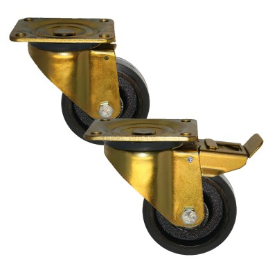 Heavy Duty 46 Series Rubber Tyre /Cast Iron Centre Castors 275kg - 700kg